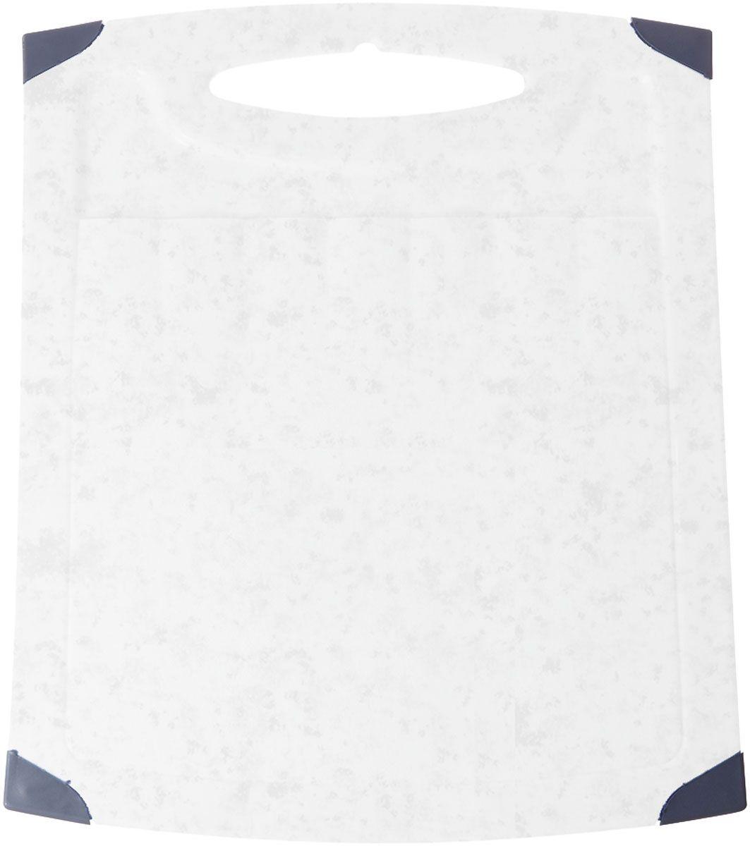 Доска разделочная Plastic Centre Люкс, цвет: мраморный, 26 х 23 см