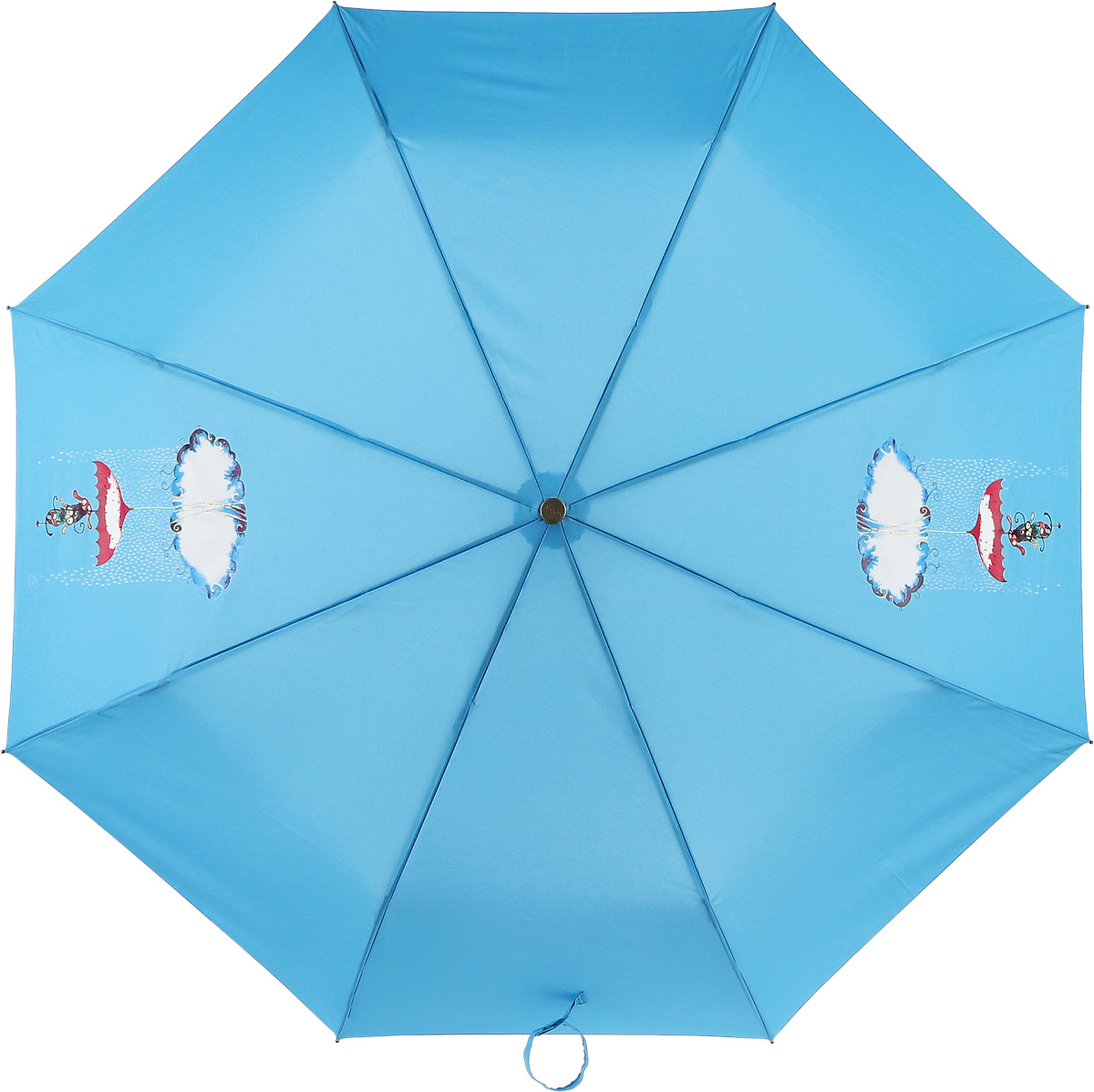 Зонт женский Airton, автомат, 3 сложения, цвет: голубой, красный. 3912-430 зонт airton 3917 8028 полный автомат женский