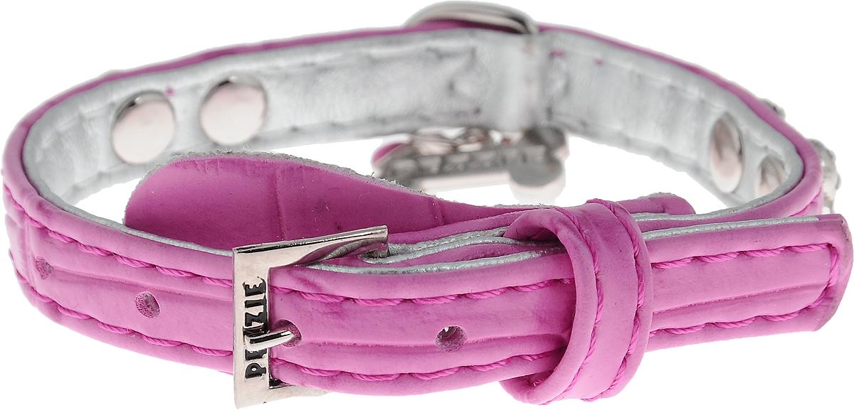"""Ошейник для собак """"Dezzie"""", цвет: розовый, обхват шеи 25 см, ширина 1 см. Размер XS. 5624339"""