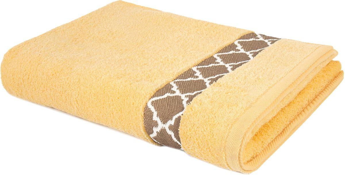 Полотенце махровое Aquarelle Таллин-1, 70 х 140 см, цвет: светло-желтый. 707727 полотенце махровое aquarelle волна цвет ваниль 70 x 140 см