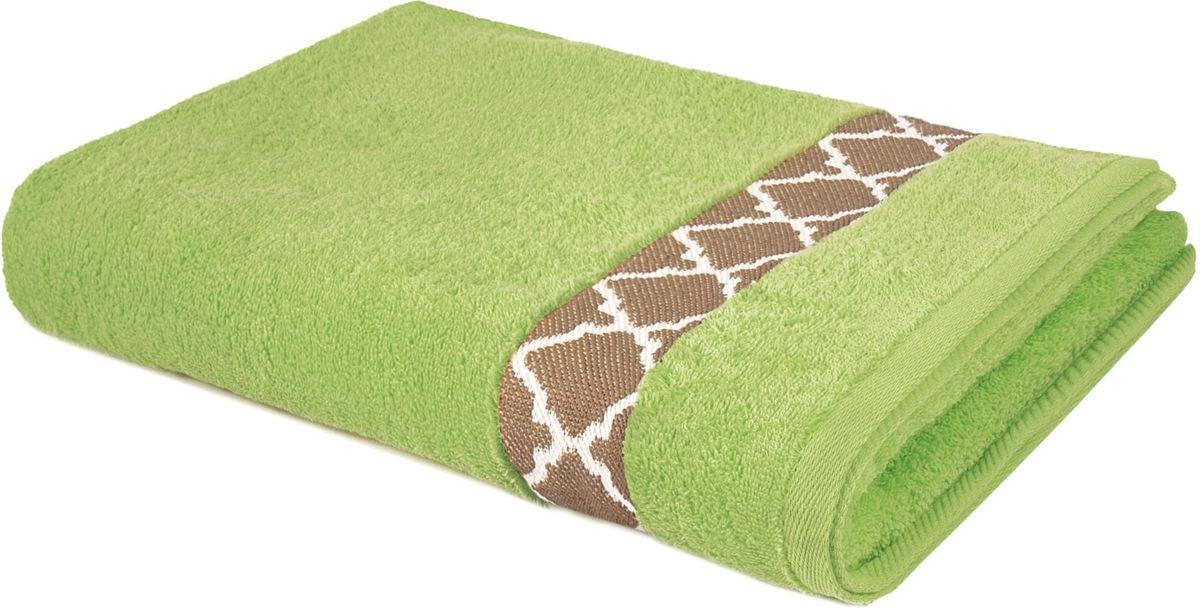 Полотенце махровое Aquarelle Таллин-1, цвет: травяной, 70 х 140 см полотенце махровое aquarelle волна цвет ваниль 70 x 140 см