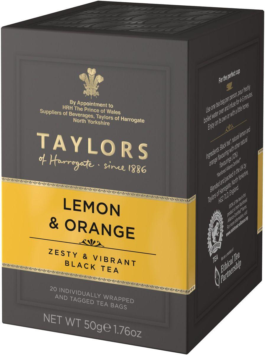 Taylors of Harrogate чай черный байховый с ароматом лимона и апельсина в пакетиках, 20 шт китайские мудрости на пути чая