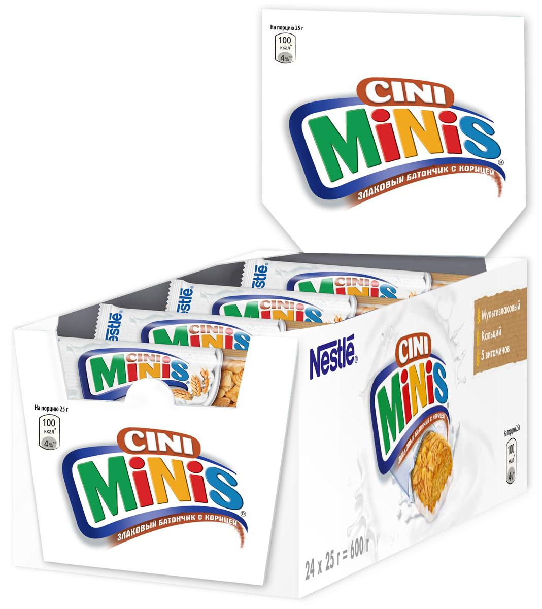 Nestle Cini Minis Злаковый батончик с корицей, 24 шт по 25 г cini пальто