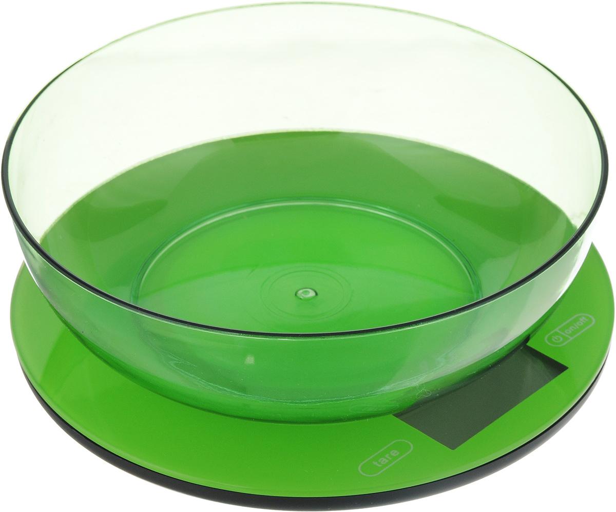 Весы кухонные Mayer & Bosh, с чашей, цвет: зеленый, до 5 кг. 10958 весы mayer