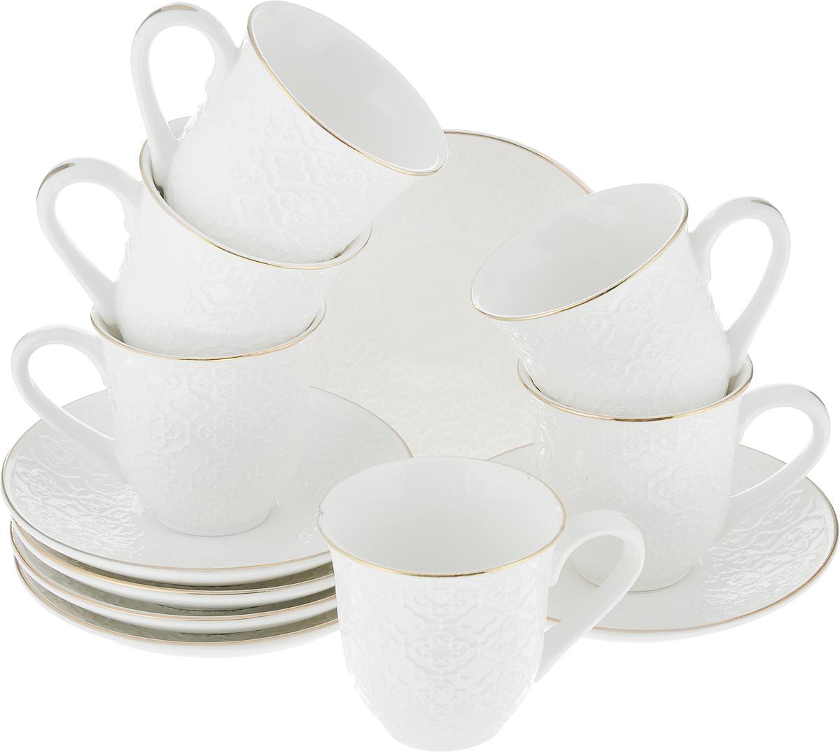 Фото - Набор кофейный Loraine, 12 предметов. 25769 [супермаркет] jingdong геб scybe фил приблизительно круглая чашка установлена в вертикальном положении стеклянной чашки 290мла 6 z
