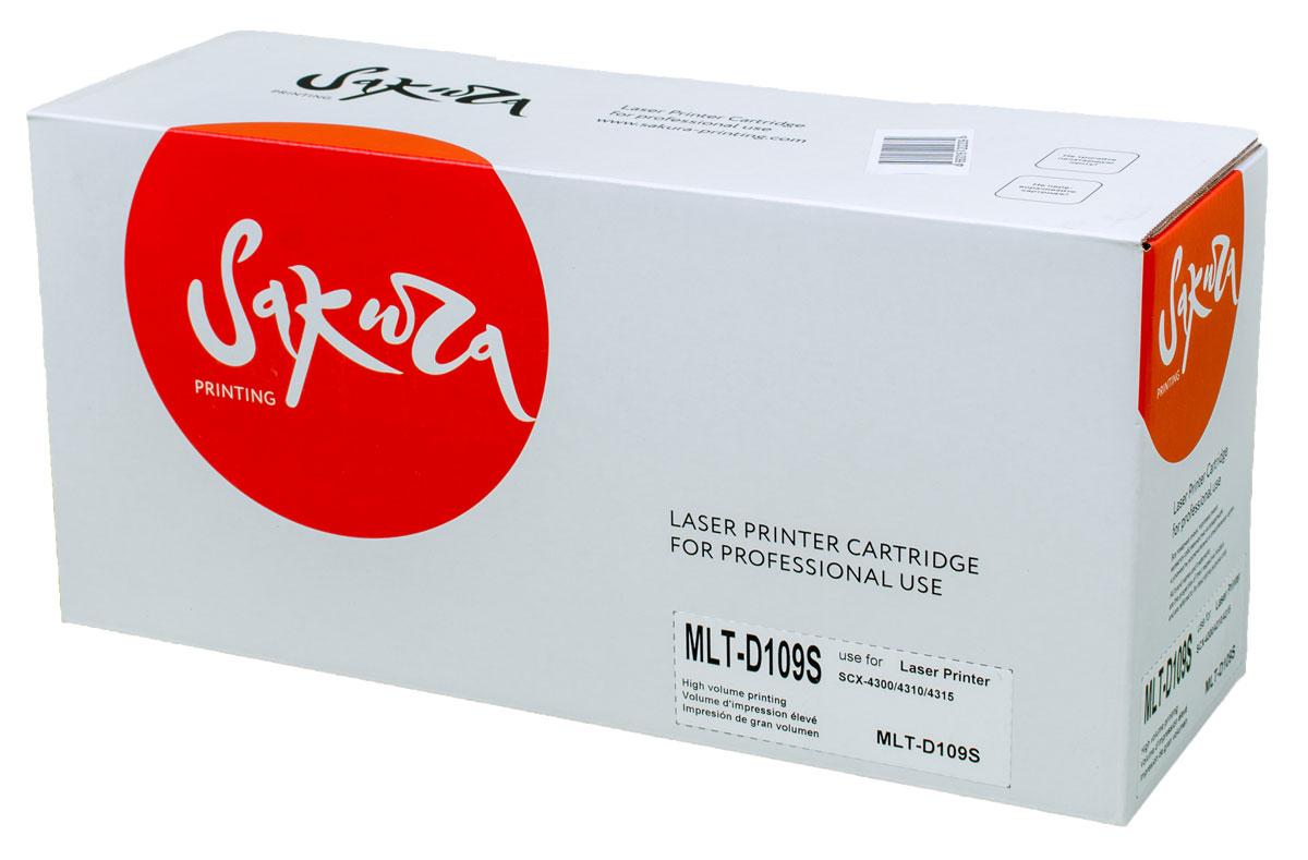 Sakura MLT-D109S, Black тонер-картридж для Samsung SCX4300/4310/4315