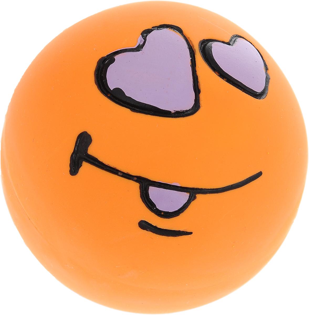 """Игрушка для собак Dezzie """"Мяч. Любовь"""", с пищалкой, диаметр 6 см"""