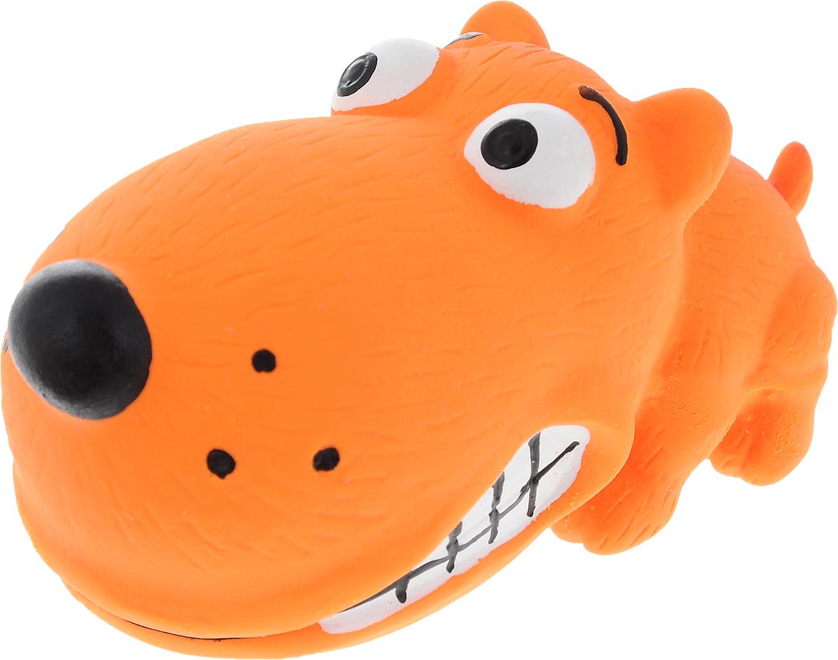 Фото - Игрушка для собак Dezzie Забавный пес, с пищалкой, длина 8 см trixie стойка с мисками trixie для собак 2х1 8 л