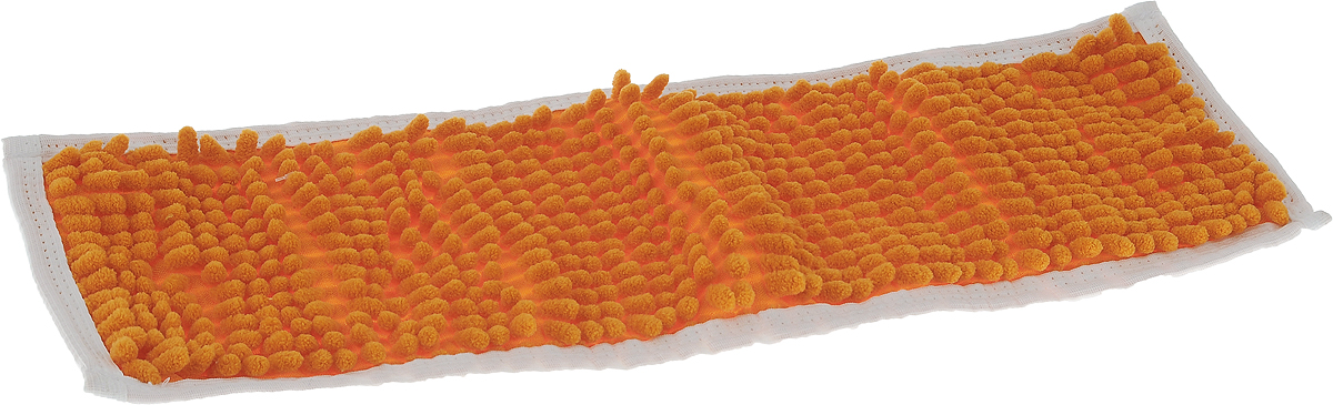 Насадка для швабры Коллекция, цвет: оранжевый, 43 х 13 см насадка на швабру in loran classic n 503bl голубой 44 4 х 13 5 см