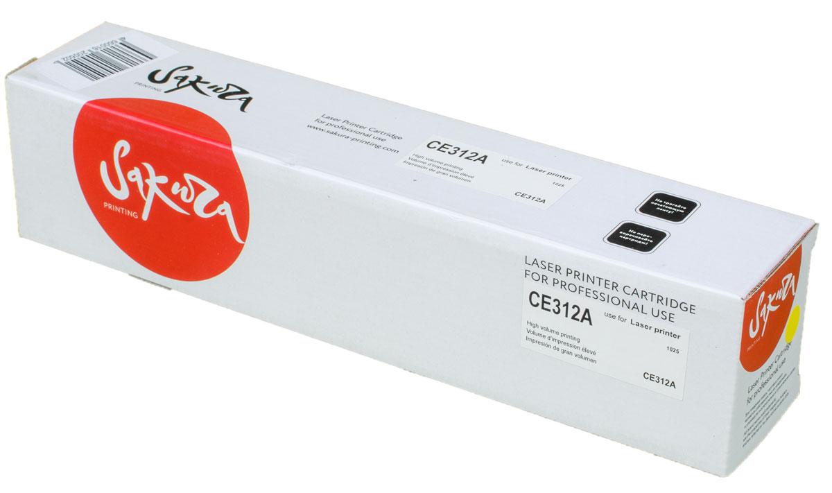 Картридж Sakura CE312A, желтый, для лазерного принтера цена в Москве и Питере