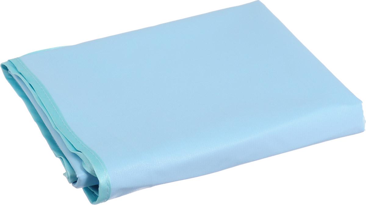 Колорит Клеенка подкладная с резинками-держателями цвет голубой бирюзовый 70 х 100 см колорит клеенка подкладная с резинками держателями для детских колясок цвет бежевый 50 x 70 см