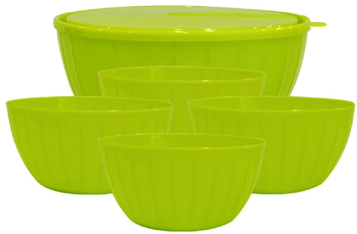 Набор салатников Giaretti Fiesta, цвет: оливковый, 6 предметов набор салатников giaretti riva с крышками цвет красный 2 шт