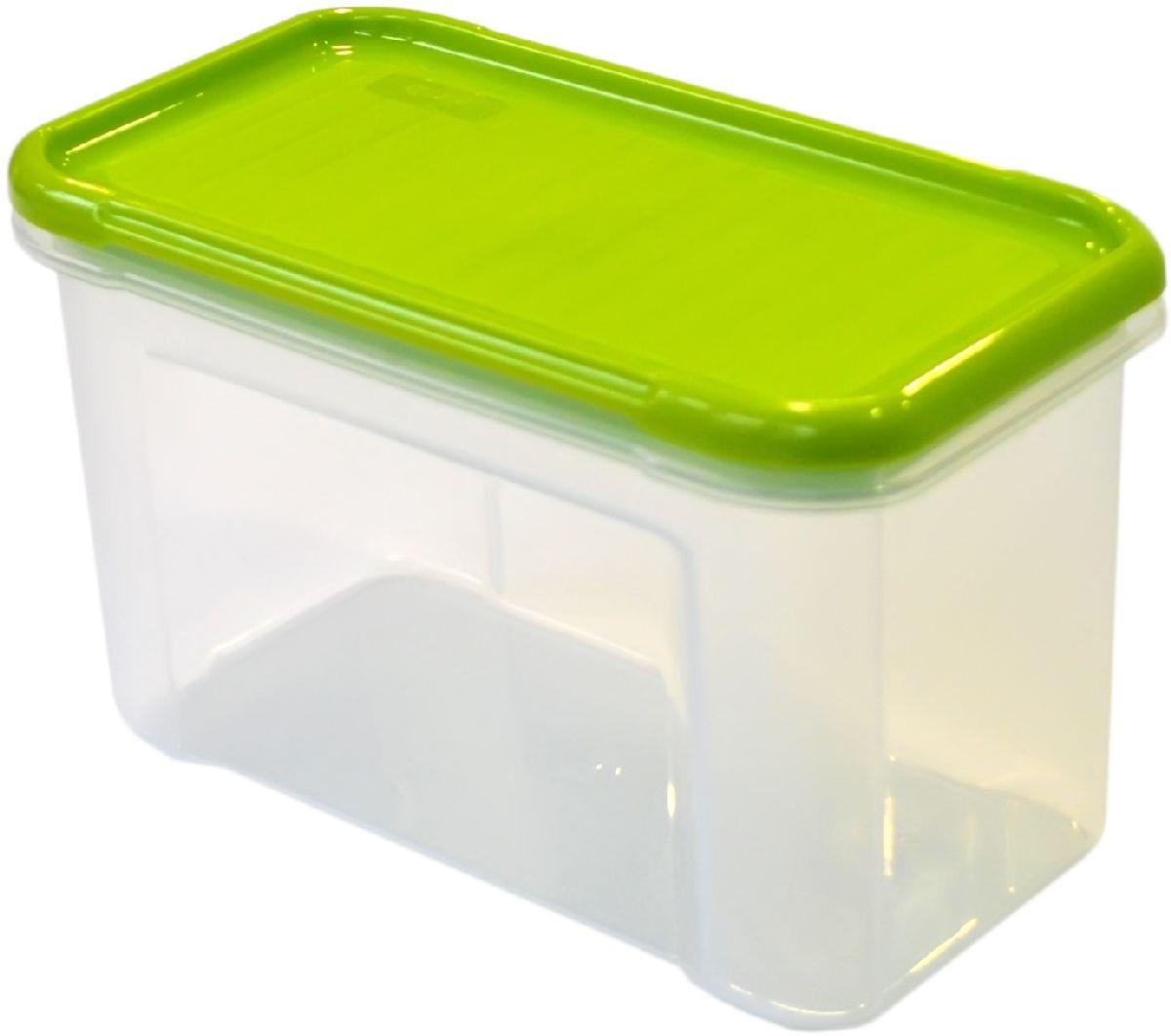 Банка для сыпучих продуктов Giaretti Krupa, цвет: оливковый, прозрачный, 750 мл банка для сыпучих продуктов giaretti krupa с дозатором цвет оливковый прозрачный 1 5 л