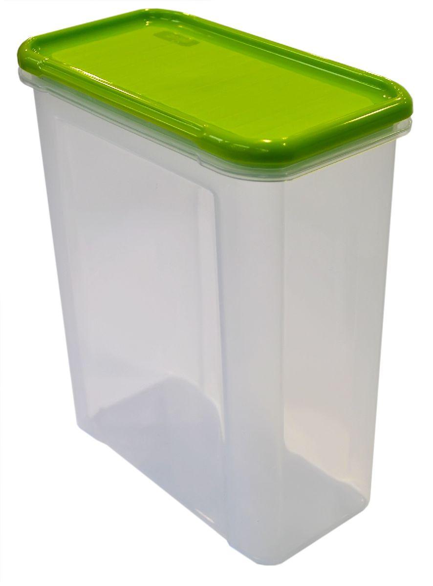 Банка для сыпучих продуктов Giaretti Krupa, цвет: оливковый, прозрачный, 1,5 л банка для сыпучих продуктов giaretti krupa с дозатором цвет оливковый прозрачный 750 мл
