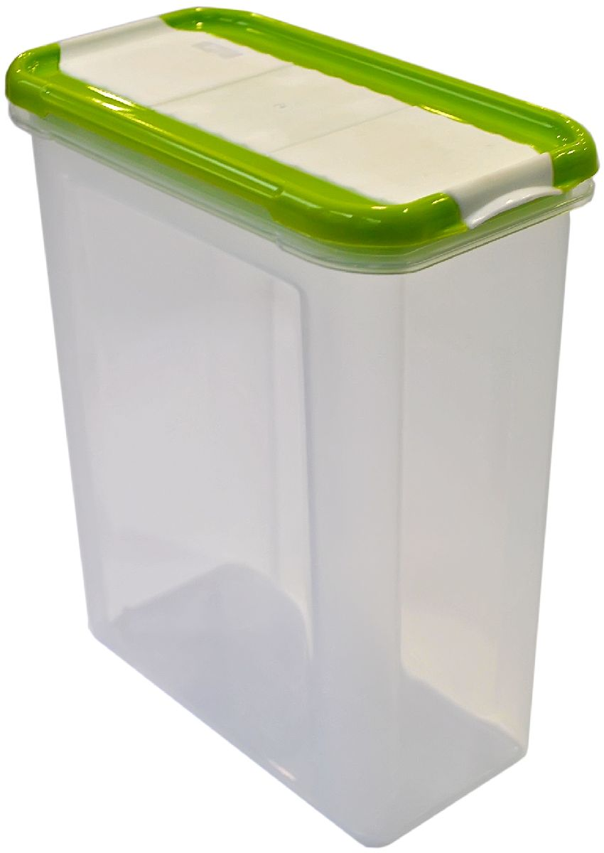 Банка для сыпучих продуктов Giaretti Krupa, с дозатором, цвет: оливковый, прозрачный, 1,5 л банка для сыпучих продуктов giaretti krupa с дозатором цвет оливковый прозрачный 750 мл