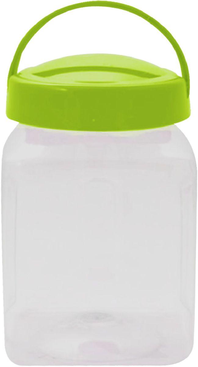 Емкость для хранения Plastic Centre Квадро, цвет: светло-зеленый, прозрачный, 3 л миска plastic centre фазенда с крышкой цвет светло зеленый 6 л