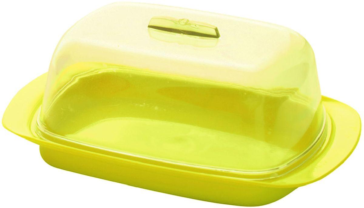 """Масленка """"Plastic Centre"""", цвет: желтый, 18 х 7 х 11,5 см"""