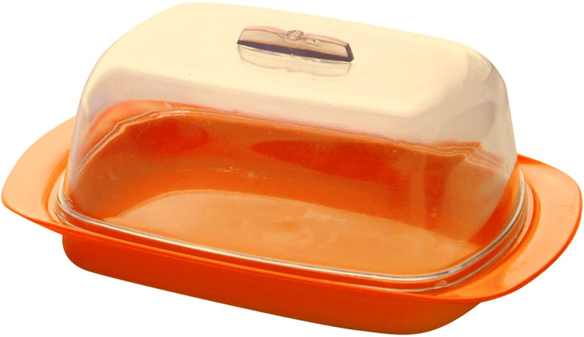 "Масленка ""Plastic Centre"", цвет: оранжевый, 19 х 7 х 11,5 см"