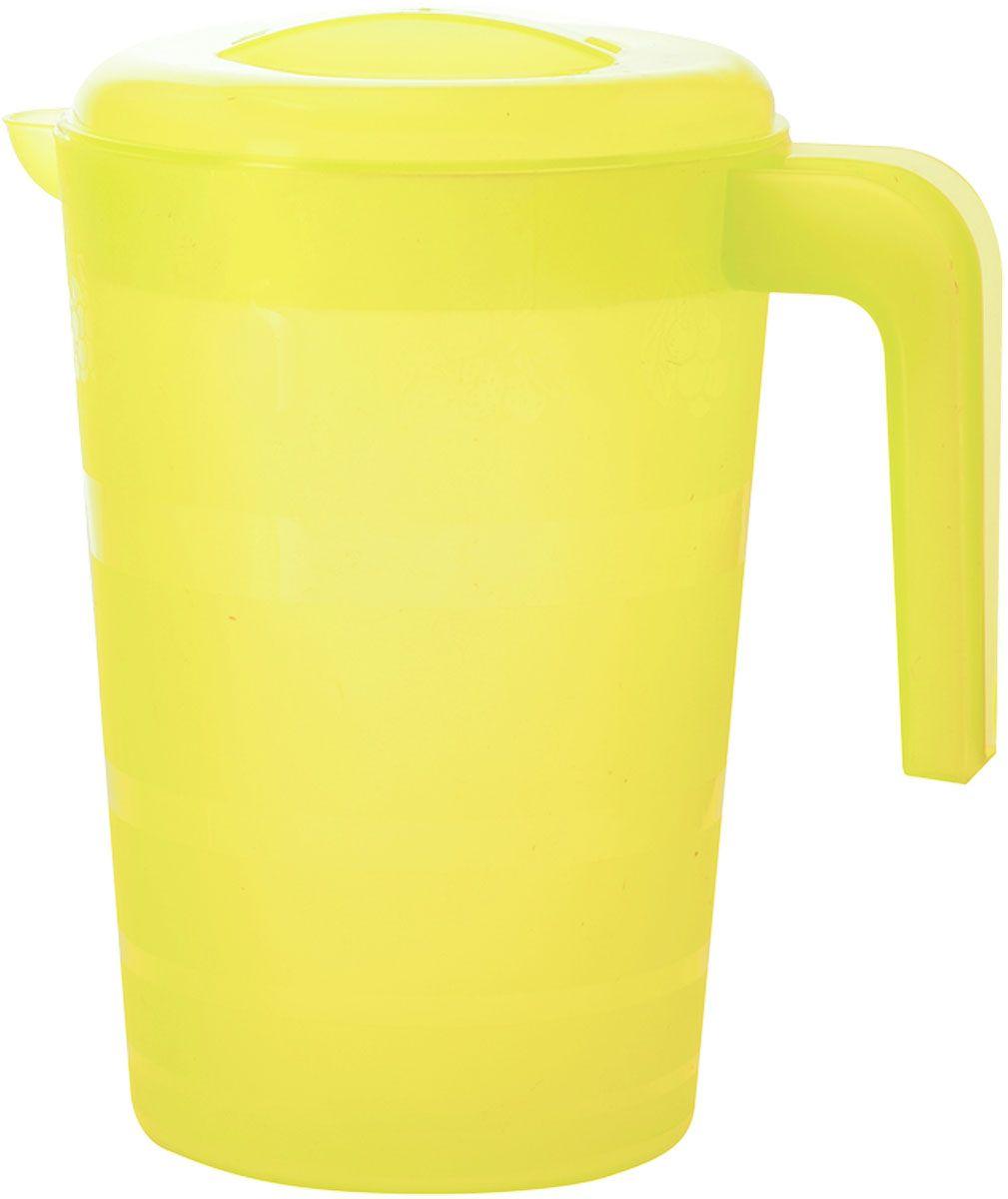 """Кувшин Plastic Centre """"Фазенда"""", с крышкой, цвет: желтый, 2 л"""