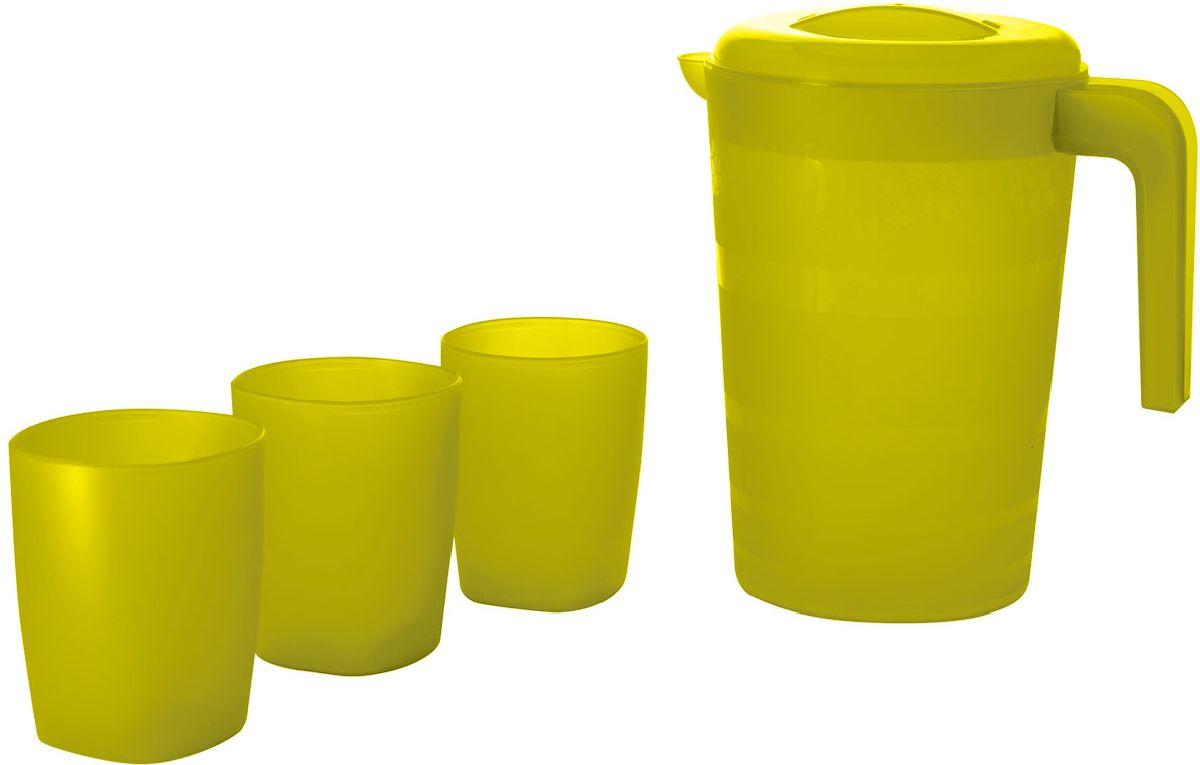 "Набор питьевой Plastic Centre ""Фазенда"", цвет: желтый, 4 предмета"