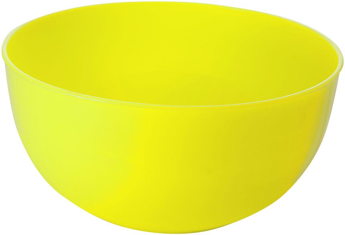 """Салатник Plastic Centre """"Galaxy"""", цвет: желтый, 2,5 л"""