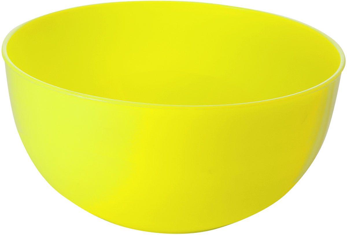 """Салатник Plastic Centre """"Galaxy"""", цвет: желтый, 4 л"""
