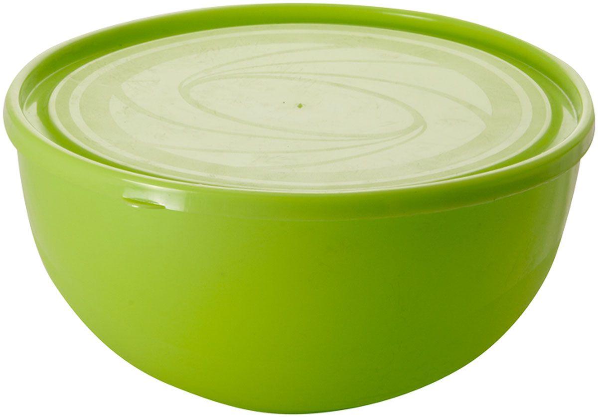 """Салатник Plastic Centre """"Galaxy"""", с крышкой, цвет: светло-зеленый, 2,5 л"""