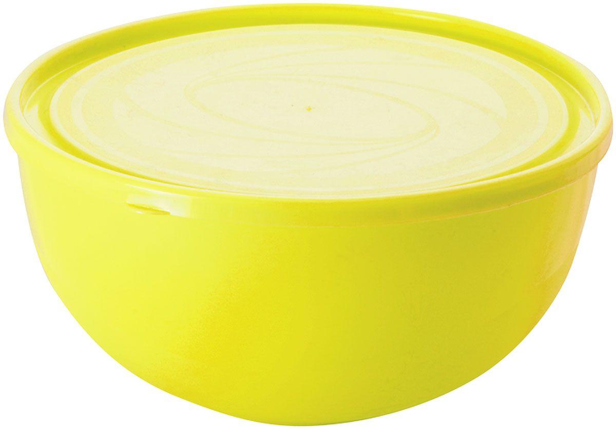 """Салатник Plastic Centre """"Galaxy"""", с крышкой, цвет: желтый, 2,5 л"""
