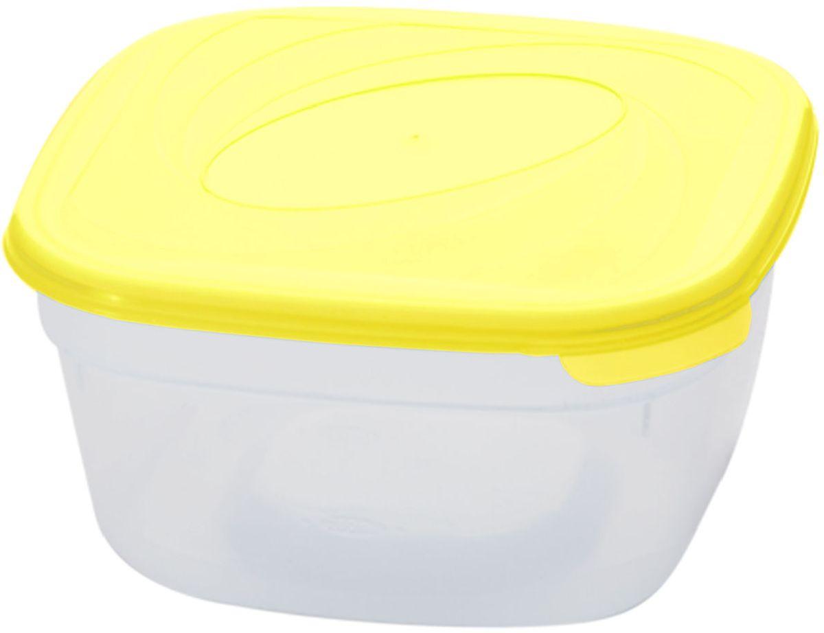 Емкость для СВЧ Plastic Centre Galaxy, цвет: желтый, прозрачный, 1 л комплект емкостей для свч plastic centre galaxy цвет светло зеленый прозрачный 5 шт