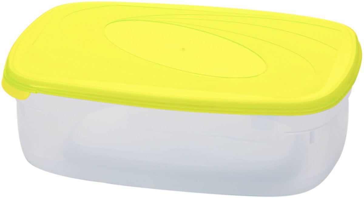 Емкость для СВЧ Plastic Centre Galaxy, цвет: желтый, прозрачный, 0,75 л комплект емкостей для свч plastic centre galaxy цвет светло зеленый прозрачный 5 шт