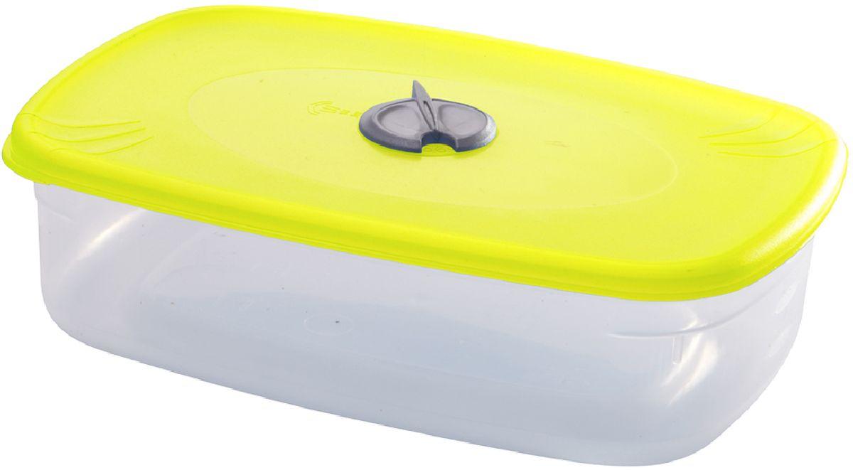 Емкость для СВЧ Plastic Centre, с паровыпускным клапаном, цвет: желтый, прозрачный, 1,6 л емкость для хранения plastic centre сфера цвет светло зеленый прозрачный 2 л