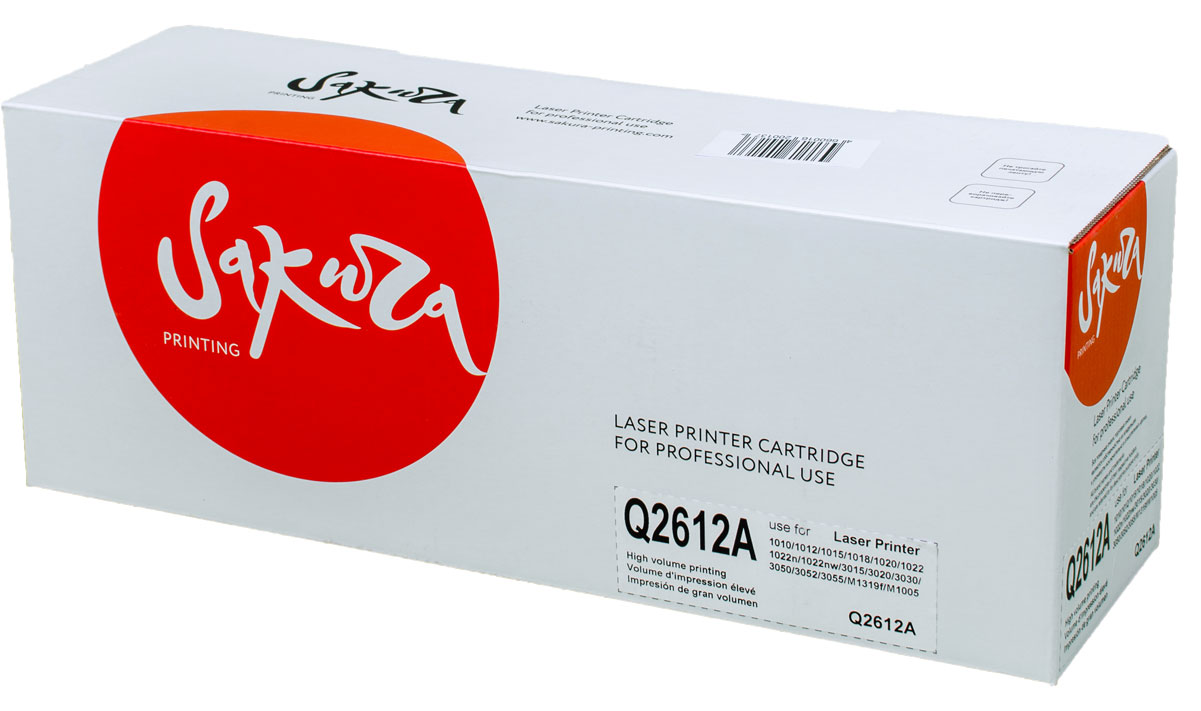 Картридж Sakura Q2612A, черный, для лазерного принтера