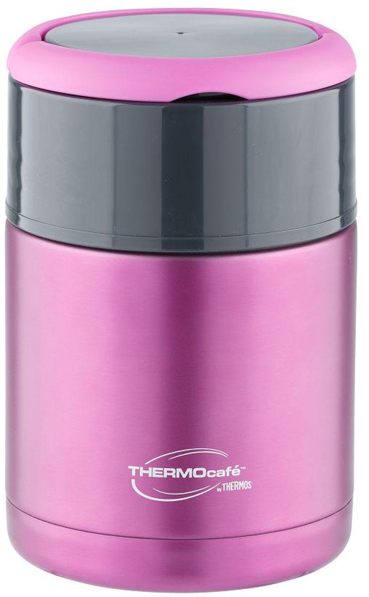 Термос для еды Thermocafe By Thermos, цвет: сиреневый, 0,8 л. TS3506 термос thermos thermocafe jf 50 0 5л салатовый 271501