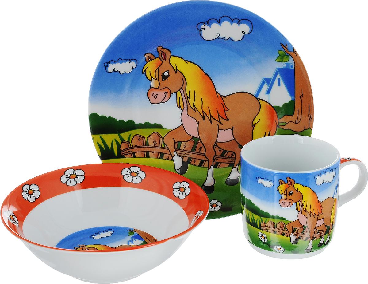 Набор детской посуды Mayer & Boch Лошадка, 3 предмета набор для завтрака mayer