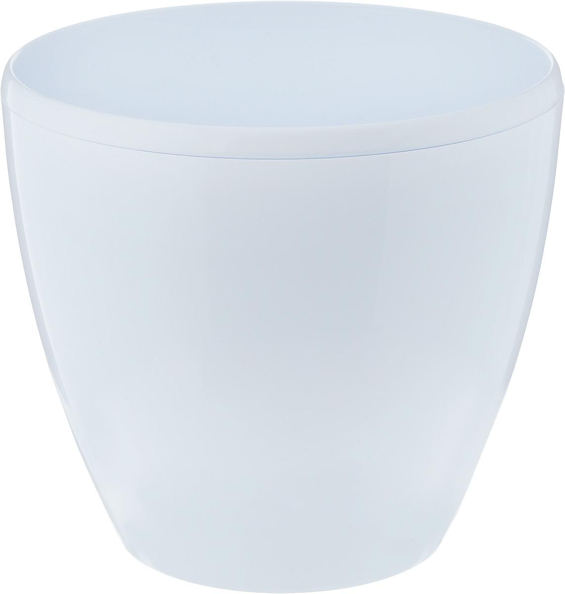 """Горшок цветочный Santino """"Deco Twin"""", с системой автополива, цвет: белый, 5,8 л"""