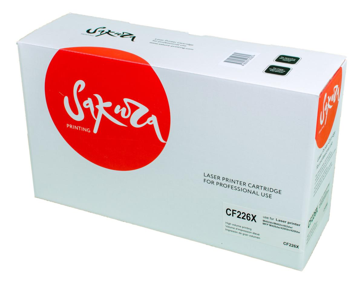 Sakura CF226X, Black тонер-картридж для HP LaserJet Pro M402n/M402dn/M402dw/M426dw/M426fdn/M426fdw
