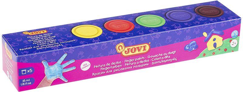 Jovi Краски пальчиковые 5 цветов 175 г краски jovi краски для рисования руками jovi 5 цв 35 мл