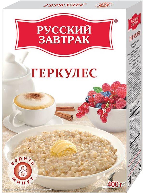 Русский Завтрак хлопья геркулес, 400 г пассим геркулес 12 месяцев 750 г