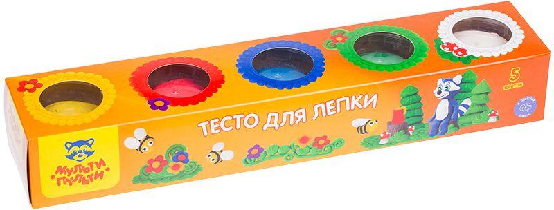 Мульти-Пульти Тесто для лепки Енот на пасеке 5 цветов акварель мульти пульти енот в джунглях 12 цветов ак 10698