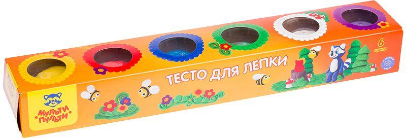 Мульти-Пульти Тесто для лепки Енот на пасеке 6 цветов мульти пульти акварель енот в красном море 10 цветов