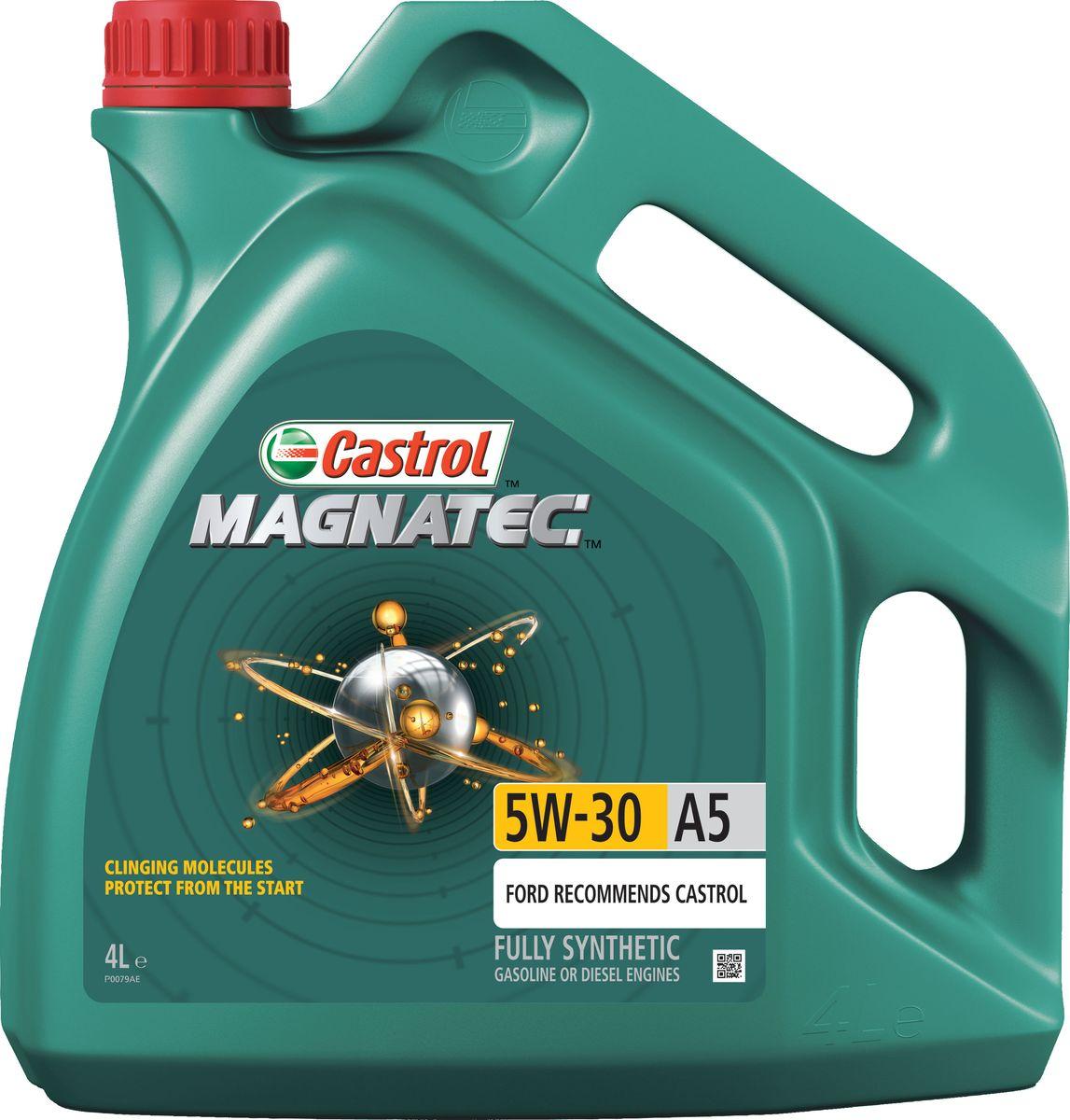 """Масло моторное """"Castrol Magnatec"""", синтетическое, класс вязкости 5W-30, A5, 4 л"""