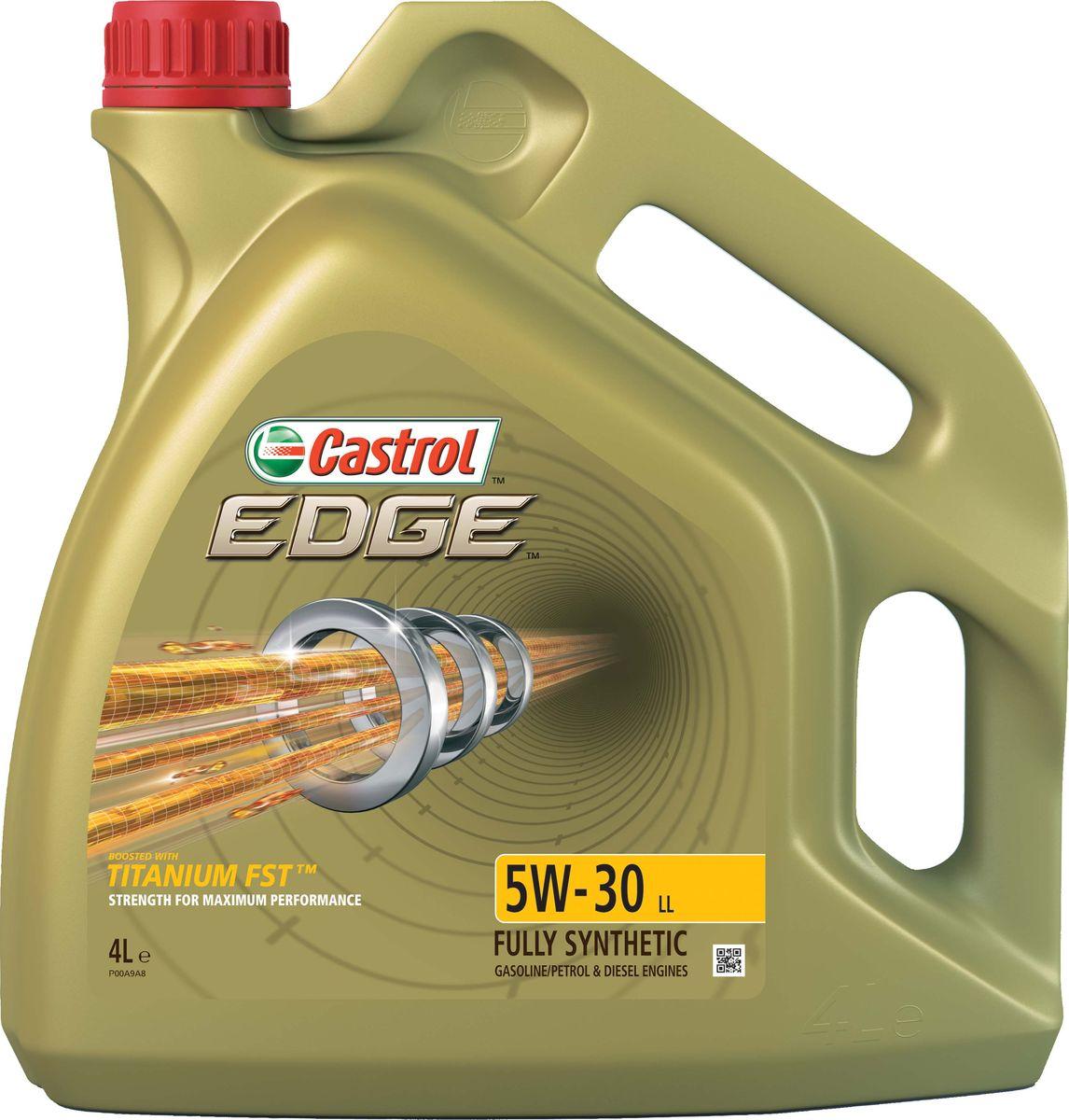 """Масло моторное Castrol """"Edge"""", синтетическое, класс вязкости 5W-30, LL, 4 л"""