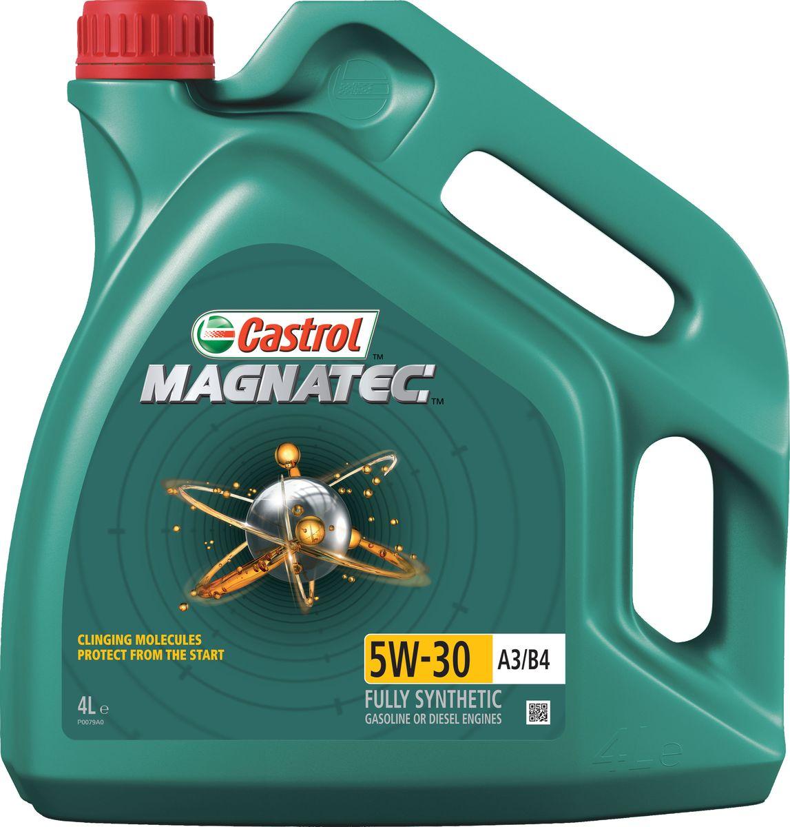 """Масло моторное Castrol """"Magnatec"""", синтетическое, класс вязкости 5W-30, A3/B4, 4 л"""