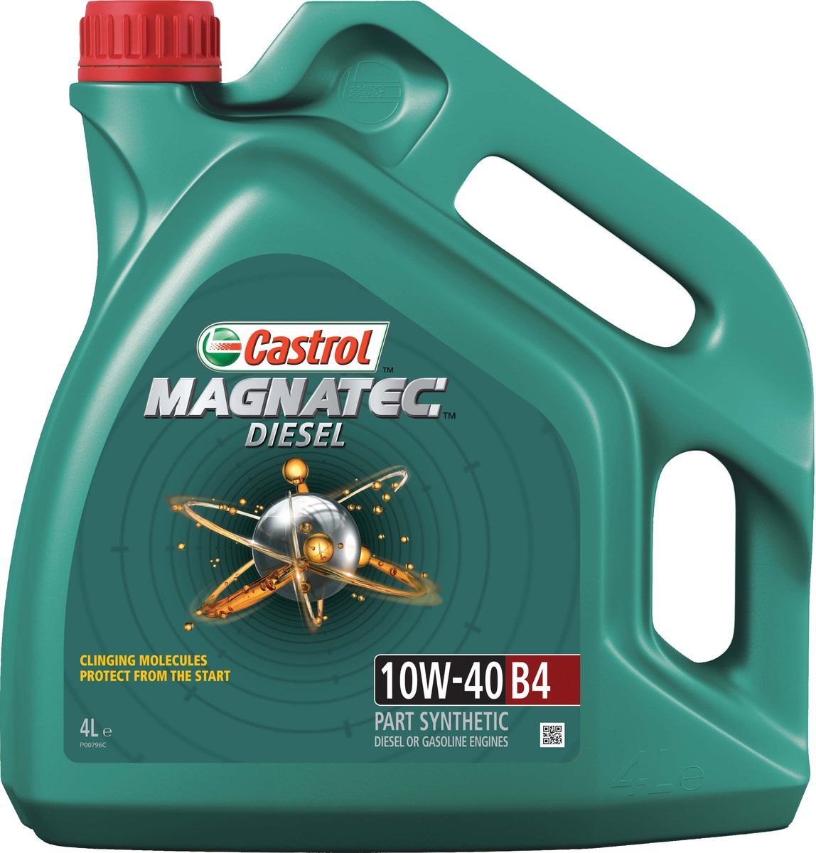 """Масло моторное Castrol """"Magnatec Diesel"""", полусинтетическое, класс вязкости 10W-40, B4, 4 л"""