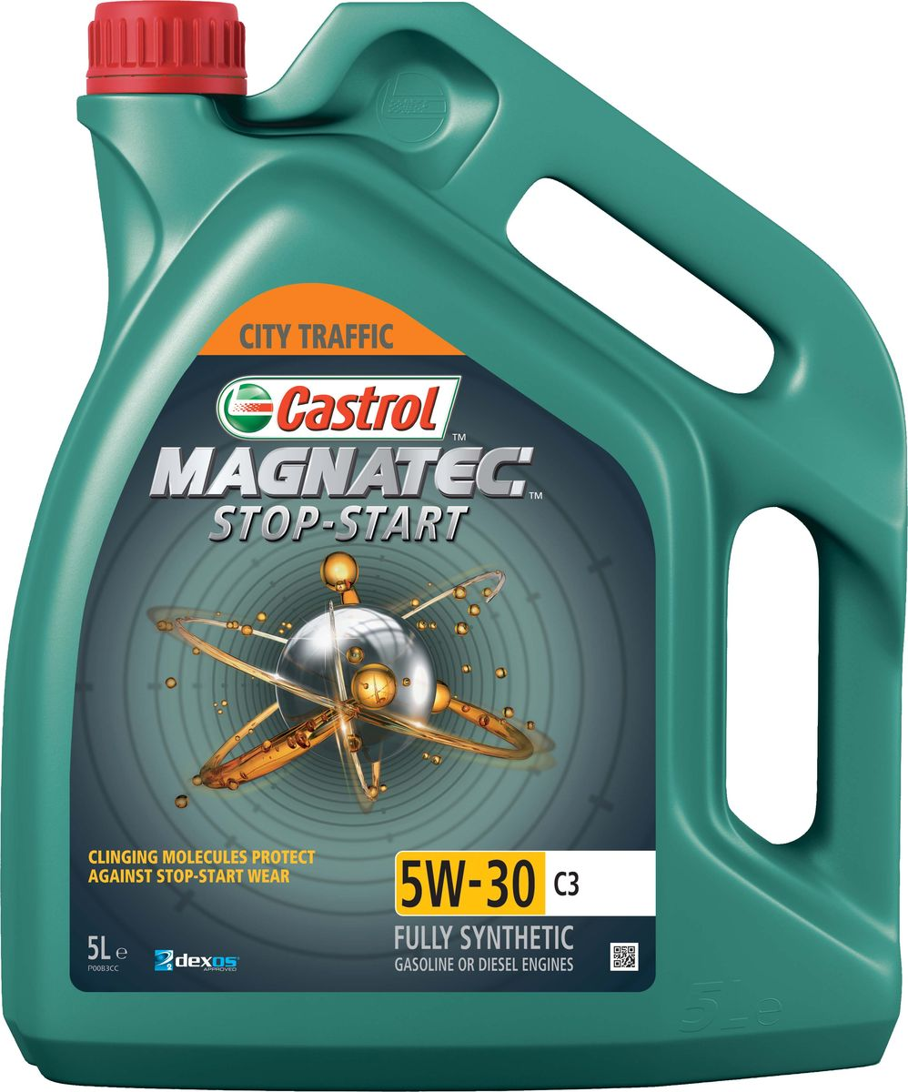 """Масло моторное Castrol """"Magnatec Stop-Start"""", синтетическое, класс вязкости 5W-30, C3, 5 л"""