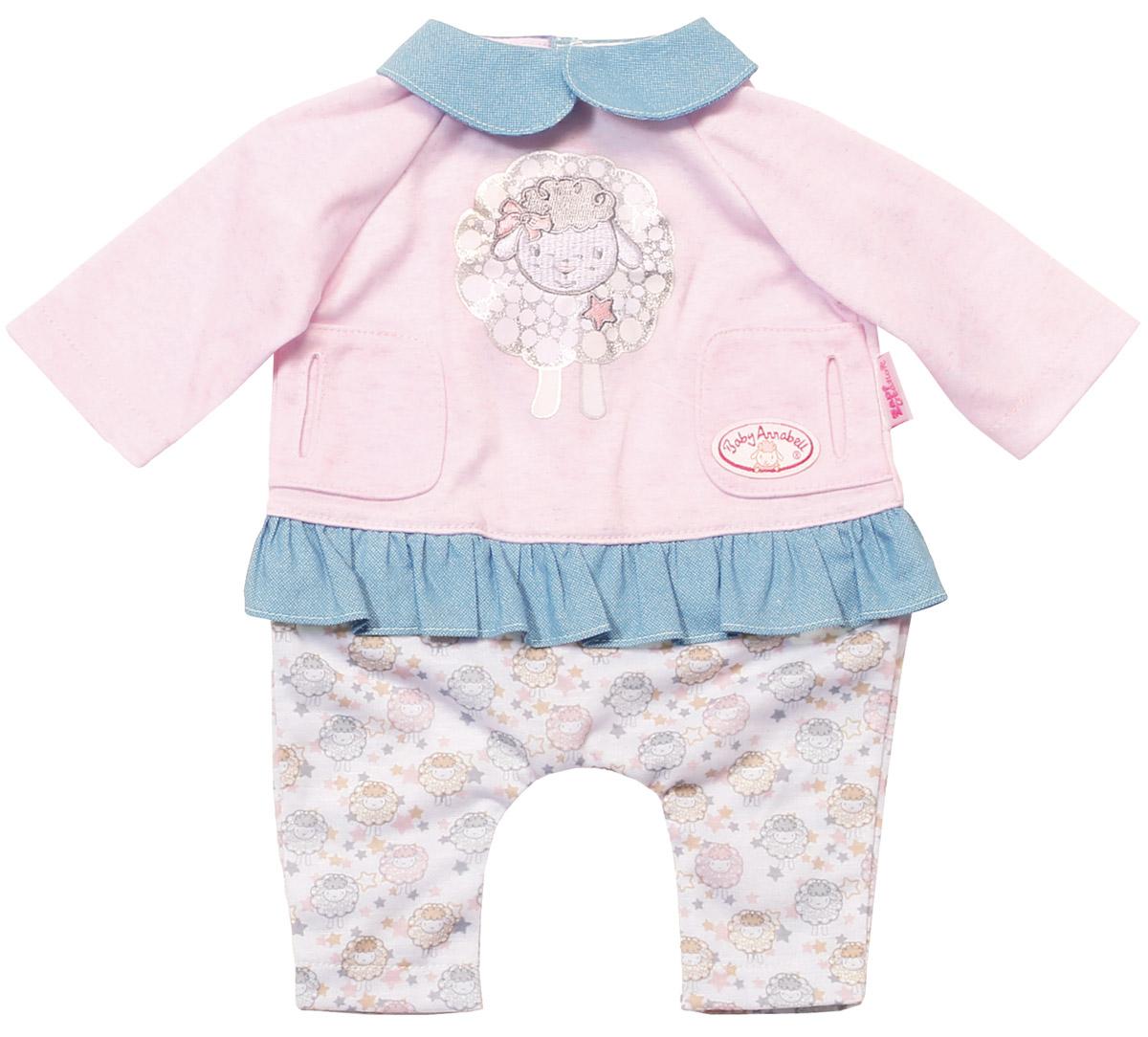 Baby Annabell Одежда для куклы Спокойной ночи игрушка baby annabell кроватка спокойной ночи кор