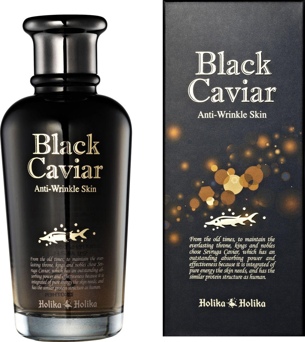 Holika Holika Питательный лифтинг тоник Черная икра, 120 мл black caviar antiwrinkle skin питательный лифтинг тонер черная икра 120 мл холика холика