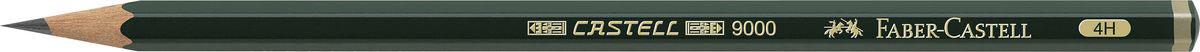 Faber-Castell Чернографитовый карандаш Castell 9000 твердость 4H faber castell чернографитовый карандаш triangular цвет корпуса белый черный мотив корова