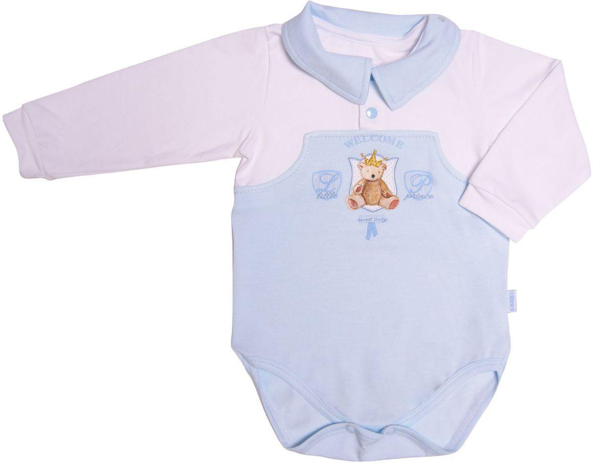 Боди СовенокЯ боди для мальчика мамуляндия маленький принц цвет голубой 17 307 размер 80