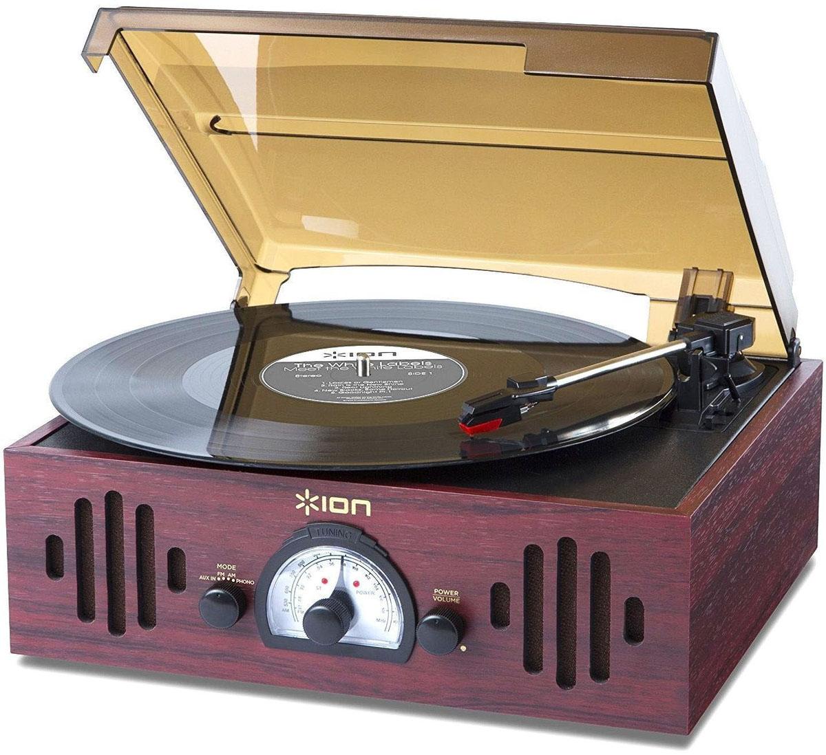 цена на Проигрыватель виниловых дисков ION Audio Trio LP, Bordeaux